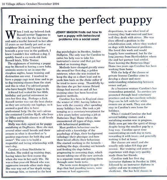 dog article page 1